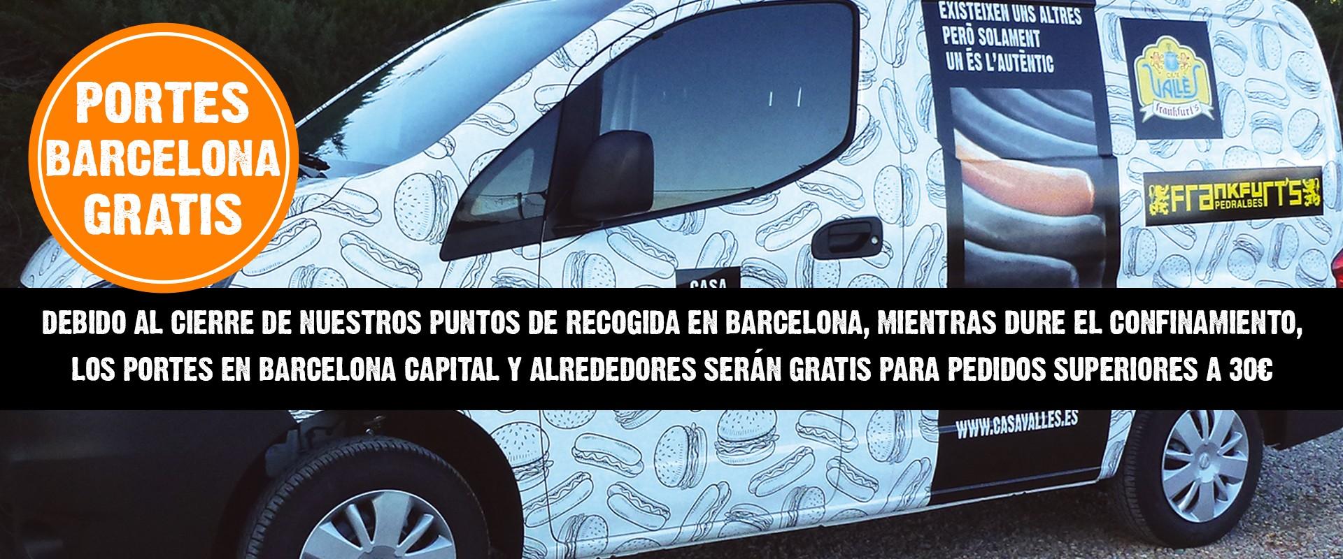 Portes Barcelona y alrededores GRATIS